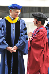Yale University Commencement 2009 | Congregation and Activities on Cross Campus before the Ceremony | Alison Richard, Vice-Chancellor of the University of Cambridge on right.