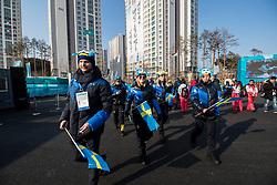 PYEONGCHANG-GUN, SOUTH KOREA - FEBRUARY 08:  Team Sweden ahead of the PyeongChang 2018 Winter Olympic Games at Olympic Village on February 8, 2018 in Pyeongchang-gun, South Korea. Photo by Kim Jong-man / Sportida