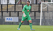 Julian Speroni screams outhis orders during the U21 Professional Development League match between Crystal Palace U21s and Huddersfield U21s at Imperial Fields, Tooting, United Kingdom on 7 September 2015. Photo by Michael Hulf.