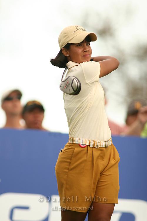 Feb 25, 2006; Kapolei, HI, USA;  Julieta Granada tees off during the final round at the inaugural LPGA Fields Open at Ko Olina Resort. ..Photo Credit: Darrell Miho .Copyright © 2006 Darrell Miho