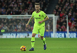 February 10, 2019 - Bilbao, Bilbao, Spain - Rakitic of Barcelona in action during La Liga Spanish championship, , football match between Athletic de Bilbao and Barcelona, February 10th, in Nuevo San Mames Stadium in Bilbao, Spain. (Credit Image: © AFP7 via ZUMA Wire)