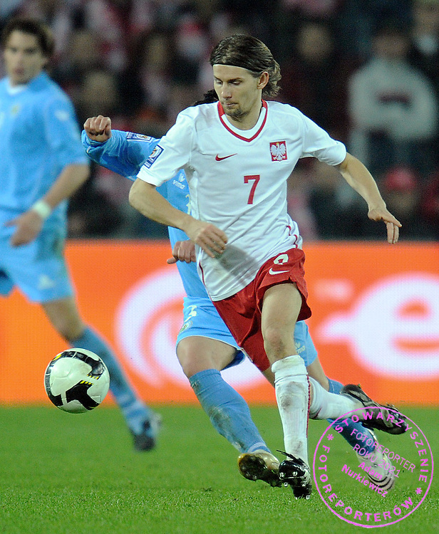EUZEBIUSZ EBI SMOLAREK (POLAND) DURING QUALIFICATION WORLD CAP SOUTH AFRICA 2010 SOCCER MATCH BETWEEN POLAND AND SAN MARINO IN KIELCE , POLAND...POLAND, KIELCE , APRIL 01, 2009..( PHOTO BY ADAM NURKIEWICZ / MEDIASPORT )..PICTURE ALSO AVAIBLE IN RAW OR TIFF FORMAT ON SPECIAL REQUEST.