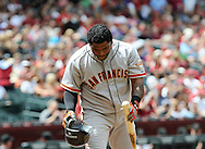 Apr. 7, 2012; Phoenix, AZ, USA; San Francisco Giants infielder Pablo Sandoval (48) against the Arizona Diamondbacks at Chase Field. The Diamondbacks defeated the Giants 5-4. Mandatory Credit: Jennifer Stewart-US PRESSWIRE.