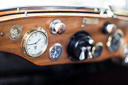 © Licensed to London News Pictures. 07/08/2016. Leeds UK. Picture shows the dashboard of a 2025 Rolls Royce at the 37th Rolls Royce North rally that has taken place this weekend in the ground's of Harewood House in Yorkshire. The event bring's together some of the UK's most prized motor cars & their proud owners. Photo credit: Andrew McCaren/LNP