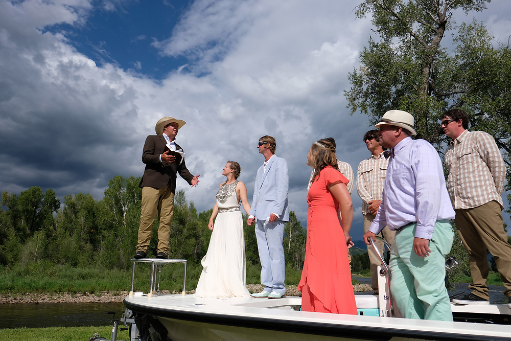 Kate and Rob Steamboat Springs Colorado River Wedding