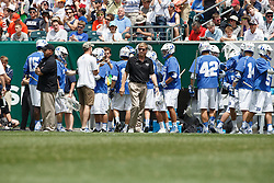 2013 May 27: Head coach John Danowski of the Duke Blue Devils during a 16-10 win over the Syracuse Orange to win the NCAA national championship at Lincoln Financial Field in Philadelphia, PA.