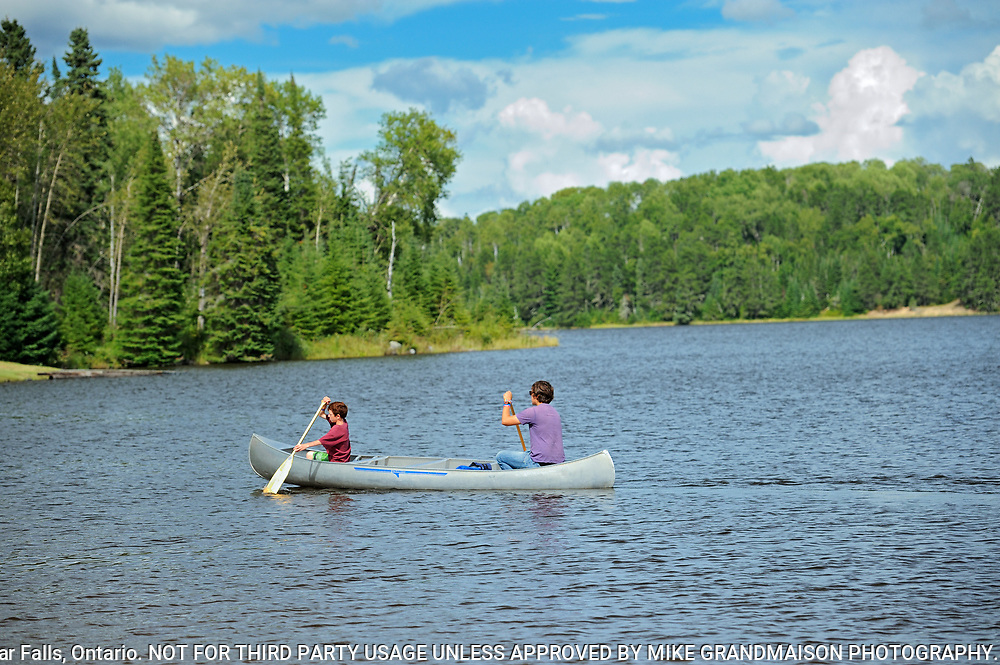 CAnoeing on Lac Seul<br />Ear Falls<br />Ontario<br />Canada
