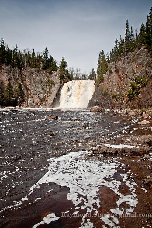 Baptism River High Falls at Tettegouche State Park, MN