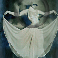Conceptual image of female with long dress 1920's style