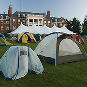 Tents house many Trekkers on the second night of the Trek at Colby College in Waterville, ME. The 2007 Trek Across Maine, an annual project of the American Lung Association of Maine (ALAM).
