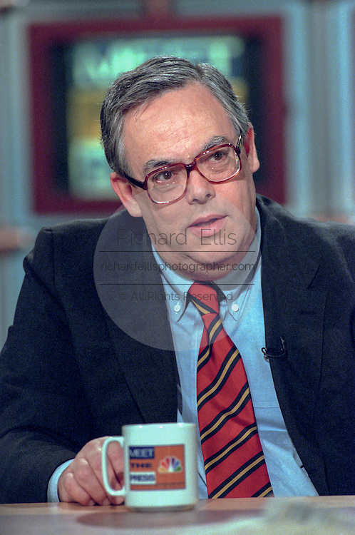 Counsel to the President, Charles Ruff, discusses the Starr report September 13, 1998 during NBC's Meet the Press in Washington, DC.