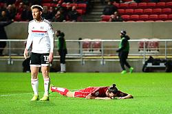 Milan Djuric of Bristol City cuts a dejected figure after coming close to scoring  - Mandatory by-line: Dougie Allward/JMP - 22/02/2017 - FOOTBALL - Ashton Gate - Bristol, England - Bristol City v Fulham - Sky Bet Championship