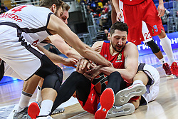 MOSCOW, Jan. 20, 2017  NIkita Kurbanov(3rd R) of CSKA Moscow of Russia vies for the ball during the Euroleague basketball game against Brose Bamberg of Germany in Moscow, Russia, on Jan. 19, 2017. CSKA won 85-64. (Credit Image: © Evgeny Sinitsyn/Xinhua via ZUMA Wire)