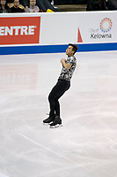 KELOWNA, BC - OCTOBER 26: Malaysian figure skater Julian Zhi Jie Yee competes during the men's long program / free skate of Skate Canada International held at Prospera Place on October 26, 2019 in Kelowna, Canada. (Photo by Marissa Baecker/Shoot the Breeze)