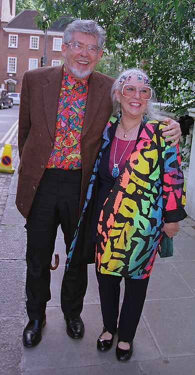 MR & MRS ROLF HARRIS he is the TV presenter, at a party in London on 30th June 1999.MTY 26