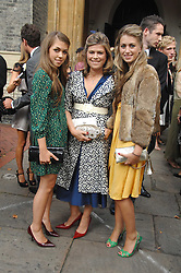 Left to right, TILLY STANDING, her mother SARAH STANDING and INDIA STANDING at the wedding of Chloe Delevingne to Louis Buckworth at St.Paul's Knightsbridge, London on 7th September 2007.<br />