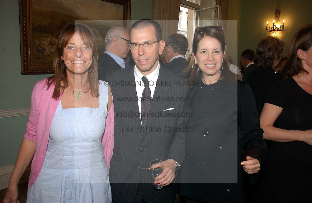 Left to right, LADY ROGERS and MR &amp; MRS JONATHAN NEWHOUSE at a party to celebrate the publication of 'A Much Married Man' by Nicholas Coleridge held at the ESU, Dartmouth House,  37 Charles Street, London W1 on 4th May 2006.<br />