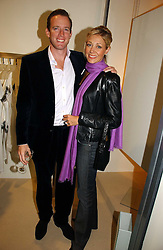 RUPERT ADAMS and his wife NADJA SWAROVSKI at a party to celebrate the launch of the Crine Gilson store at 12 Lowndes Street, London SW1 on 10th October 2006.<br />