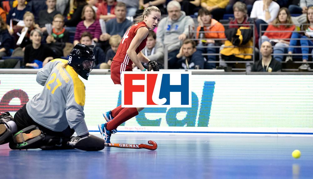 BERLIN - Indoor Hockey World Cup<br /> Bronze: Ukraine - Belarus<br /> Belarus wins 3rd place.<br /> foto: SILITSKAYA Nadzeya.<br /> WORLDSPORTPICS COPYRIGHT FRANK UIJLENBROEK