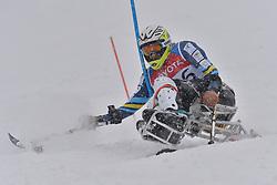 TAIT Sam LW11 AUS at 2018 World Para Alpine Skiing World Cup slalom, Veysonnaz, Switzerland