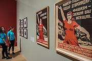 Most evil enemy women, Everyone to the struggle against facism, 1941 by Nina Vatolina - Pupils from Thomas Tallis School in Kidbrooke who are doing Russian studies, visit the exhibition - Tate Modern's new exhibition Red Star Over Russia on the 100th anniversary of the October Revolution. The exhibition offers a visual history of the Soviet Union, revealing how seismic political events inspired a wave of innovation in art and graphic design. Featuring over 250 posters, paintings and photographs, many on public display for the first time, the exhibition will provide a chance to understand how life and art were transformed during a defining period in modern world history.