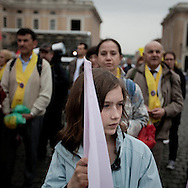 CITY OF VATICAN:Pilgrims in St. Peter's Square during the vigil prayer on the eve of John Paul II Beatification on April 30, 2011. Copyright Christian Minelli.