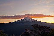 Mount Hood at sunset in Oregon. © Michael Durham