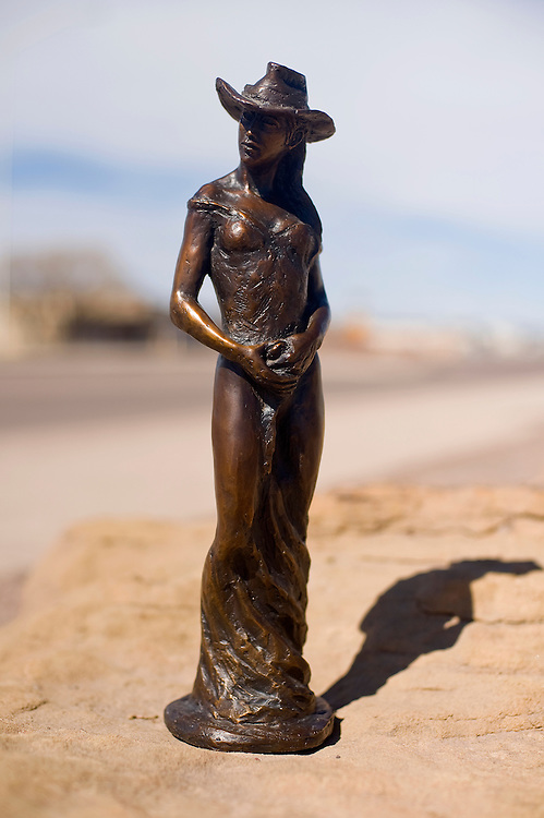 030613       Brian Leddy<br /> Navajo artist Peter Teller's sculpture of a woman will be on display at Sammy C's this month.
