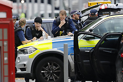 © Licensed to London News Pictures. 07/10/2017. London, UK. Police attend the scene of an incident outside the Natural History Museum. Early reports say a man has been arrested after pedestrians injured. Photo credit: Peter Macdiarmid/LNP