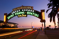 Santa Monica Pier Neon Sign Entrance, California