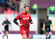 Scarlets' Steffan Hughes<br /> <br /> Photographer Simon King/Replay Images<br /> <br /> Guinness PRO14 Round 19 - Scarlets v Glasgow Warriors - Saturday 7th April 2018 - Parc Y Scarlets - Llanelli<br /> <br /> World Copyright © Replay Images . All rights reserved. info@replayimages.co.uk - http://replayimages.co.uk