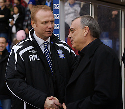 BIRMINGHAM, ENGLAND - Saturday, January 19, 2008: Birmingham City's manager Alex McLeish and Chelsea's manager Avram Grant before the Premiership match at St Andrews. (Photo by David Rawcliffe/Propaganda)