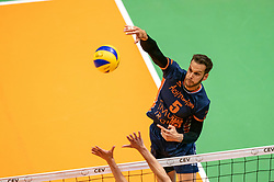 12-05-2019 NED: Abiant Lycurgus - Achterhoek Orion, Groningen<br /> Final Round 5 of 5 Eredivisie volleyball, Orion wins Dutch title after thriller against Lycurgus 3-2 / Shalev Saada #5 of Orion