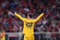 Fussball  1. Bundesliga  Saison 2019/2020  1. Spieltag  FC Bayern Muenchen - Hertha BSC Berlin       16.08.2019 Torwart Rune Jarstein (Hertha) jubelt