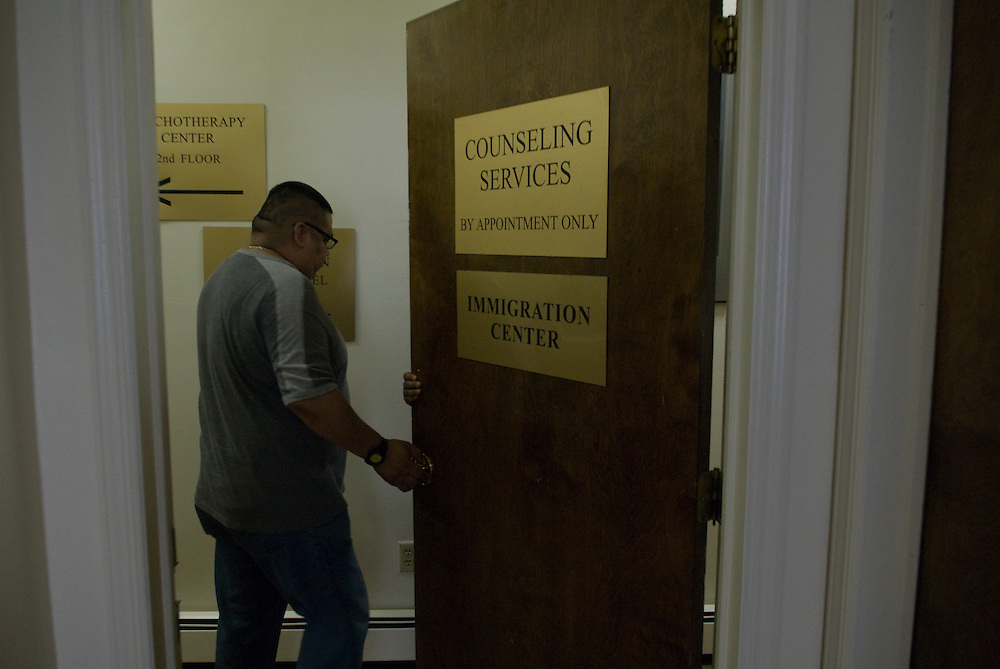 Father Brian Jordan heads the immigration center at St. Francis of Assissi church in Manhattan.
