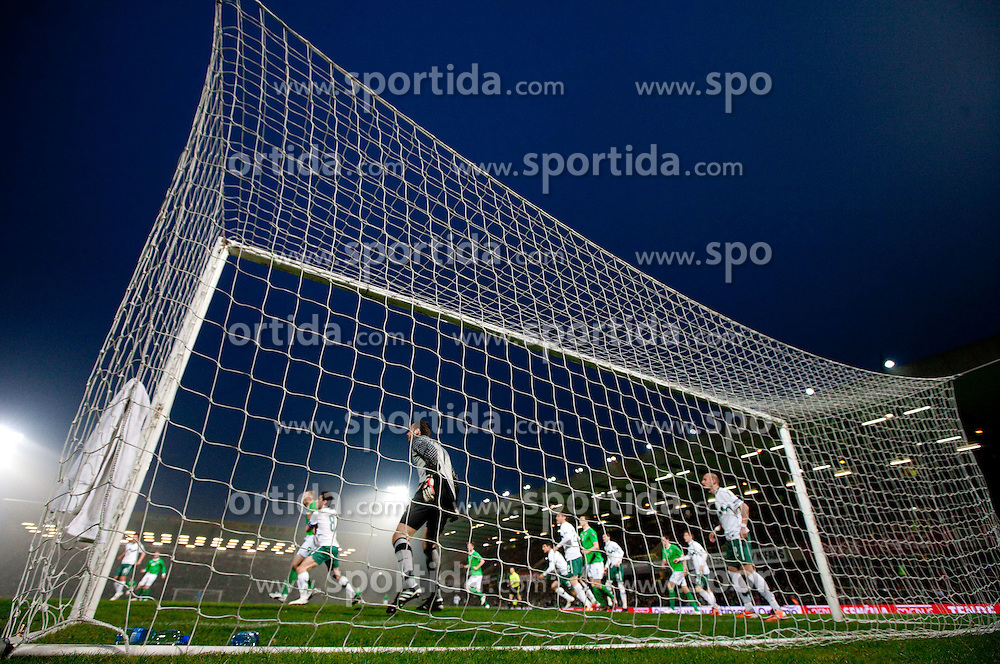 Samir Handanovic of Slovenia during EURO 2012 Quaifications game between National teams of Slovenia and Northern Ireland, on March 29, 2011, in Windsor Park Stadium, Belfast, Northern Ireland, United Kingdom. (Photo by Vid Ponikvar / Sportida)