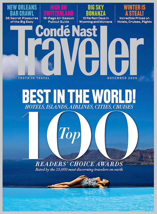 Conde Nast Traveler US Cover Nov 2009
