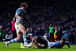 Damian de Allende of Barbarians scores a try - Mandatory by-line: Robbie Stephenson/JMP - 01/12/2018 - RUGBY - Twickenham Stadium - London, England - Barbarians v Argentina - Killick Cup