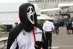 A spooky masked Sky Sports Presenter.<br /> 27.10.2016. Formula 1 World Championship, Rd 19, Mexican Grand Prix, Mexico City, Mexico, Preparation Day.<br />  <br /> / 271016 / action press