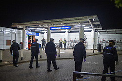 © Licensed to London News Pictures. 24/09/2019. London, UK. Metropolitan police officers search for evidence after a person was stabbed to death at Hillingdon train station. Photo credit: Peter Manning/LNP