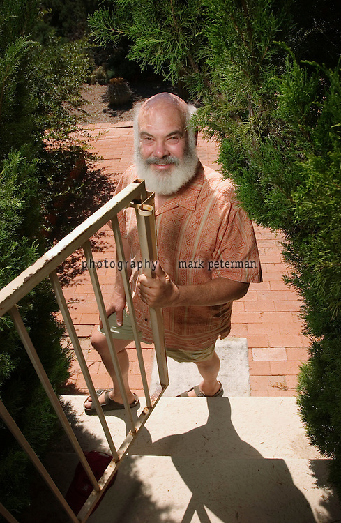 Dr. Andrew Weil at his 120 acre ranch that borders on the Saguaro National Park about 15 miles south of Tucson, Arizona.