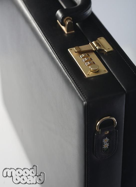 Studio shot of suit case  -close-up