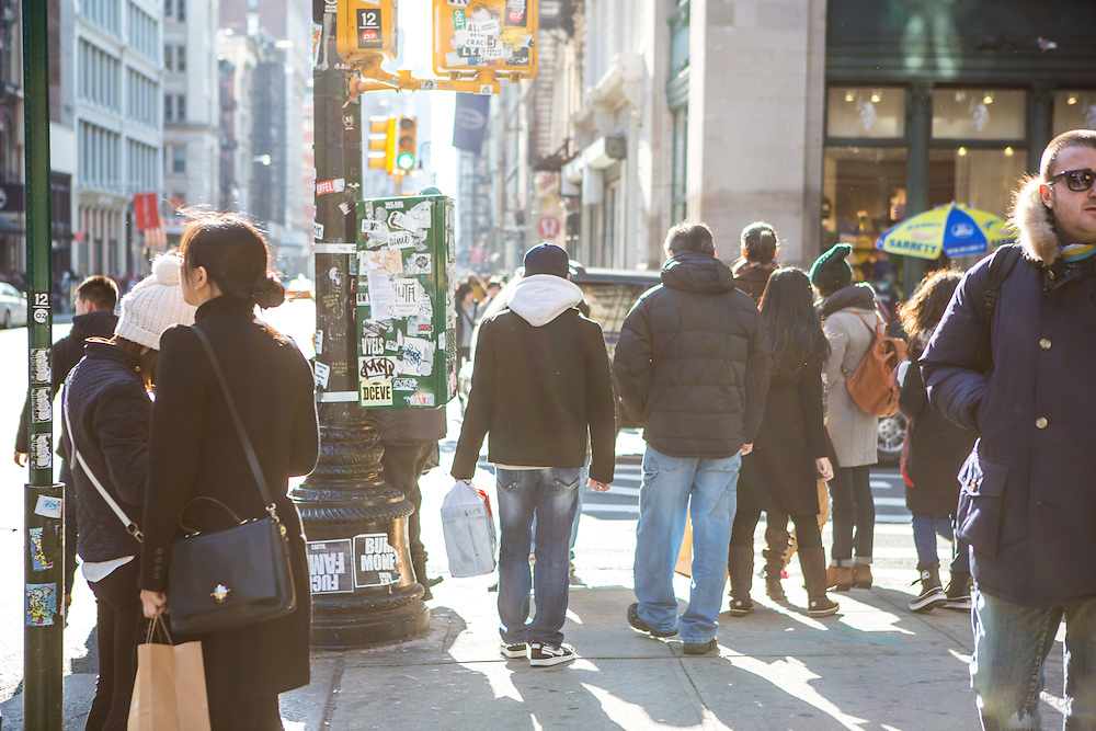 People shopping in SoHo, New York, on Black Friday