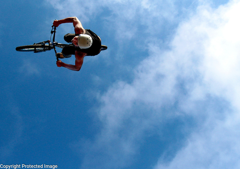 Raymond George, 19, of Santa Cruz, just returned after flying high at the X-Games in Germany. (Shmuel Thaler/Sentinel)