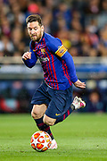 Barcelona forward Lionel Messi (10) during the Champions League semi-final leg 1 of 2 match between Barcelona and Liverpool at Camp Nou, Barcelona, Spain on 1 May 2019.