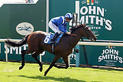 WADILSAFA (6) ridden by jockey Dane ONeill and trained by Owen Burrows winning the John Smiths Racing Handicap Stakes over 1m (£25,000) at York Racecourse, York, United Kingdom on 14 July 2018. Picture by Mick Atkins.