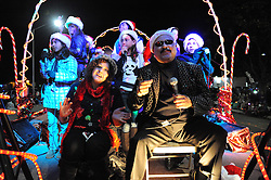 A float from Sam's School of Rock belts out the Xmas tunes during the parade on Sunday. Thousands of Salinas residents turned out to experience the magic of the 14th annual Holiday Parade of Lights in Oldtown Salinas.