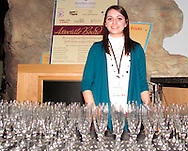 Upon arrival, guests recieve one of these glasses during the 3rd annual 'Science of Wine' fundraising event at the Boonshoft Museum of Discovery in Dayton, Saturday, January 30, 2010, benefiting the museum's STEM program,