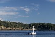 Sailboat, boat, boating, San Juan Islands, Washington