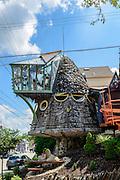 Mushroom House photo. Built by Terry Brown in the Hyde Park neighborhood of Cincinnati, Ohio.